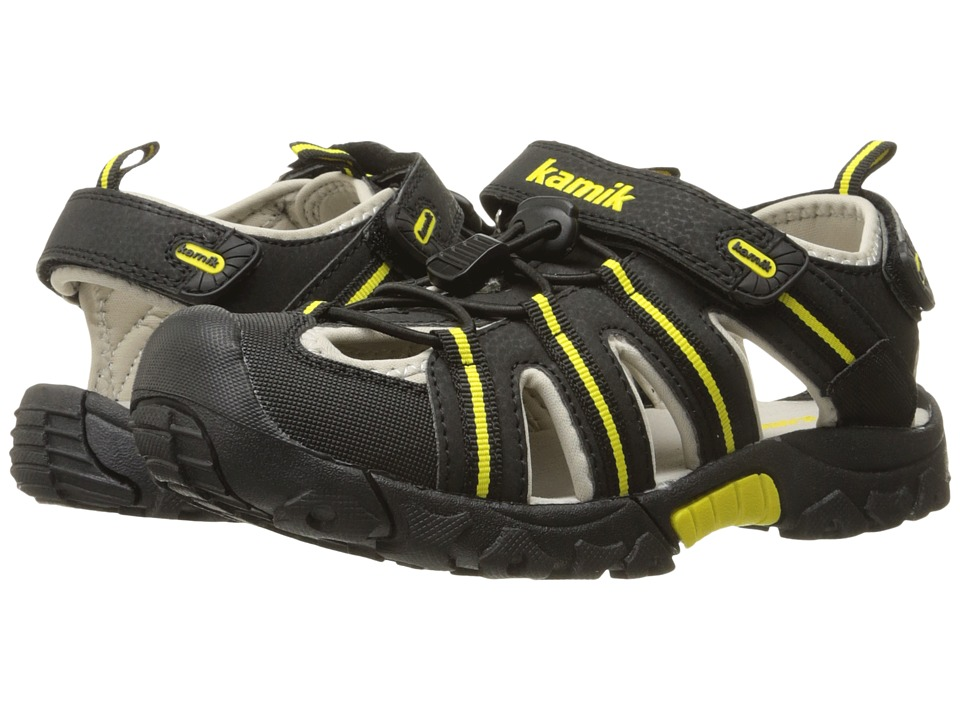 Kamik Kids Iguana Little Kid/Big Kid Black 1 Boys Shoes