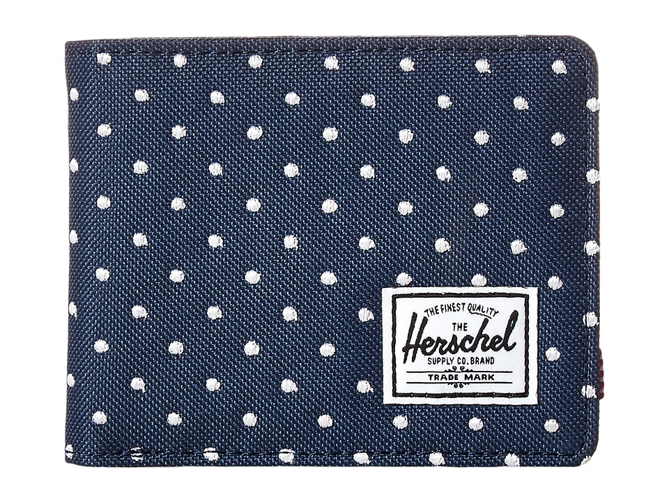 Herschel Supply Co. - Hank (Navy Embroidery Polka Dot) Wallet Handbags
