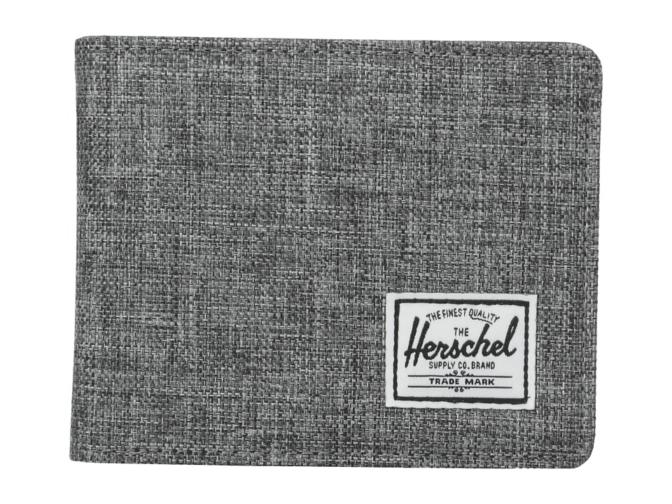 Herschel Supply Co. Hank Raven Crosshatch/Black Pebbled Synthetic Leather Wallet Handbags