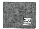 Herschel Supply Co. Hank (Raven Crosshatch/Black Pebbled Synthetic Leather)