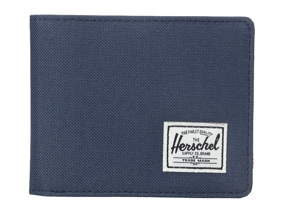 Herschel Supply Co. - Hank (Navy/Navy Pebbled Synthetic Leather) Wallet Handbags