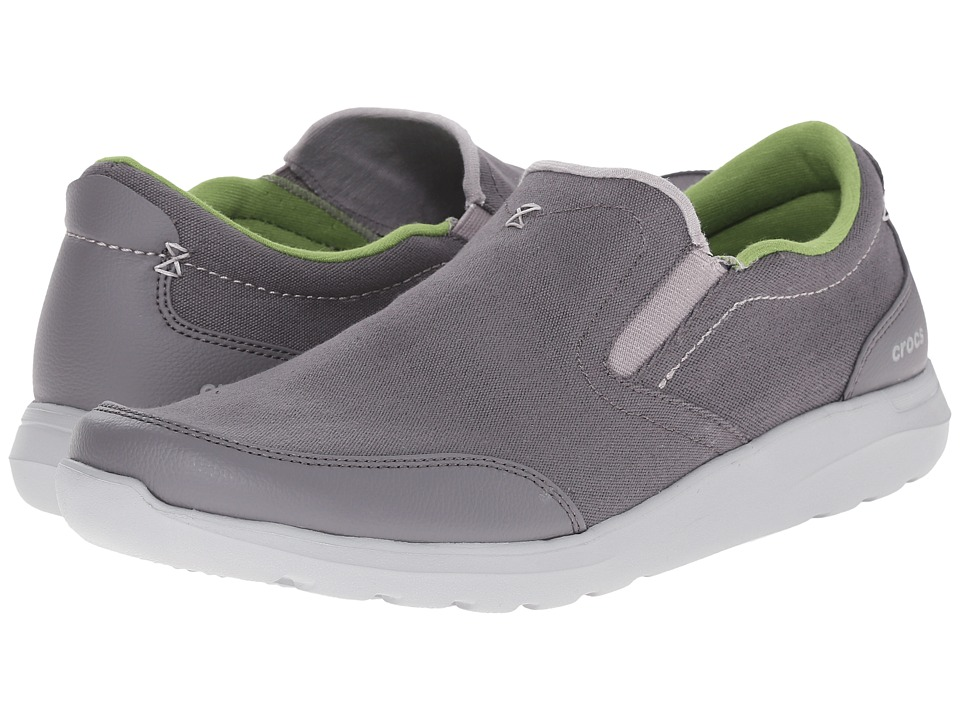 Crocs - Kinsale Slip-On (Charcoal/Light Grey) Men