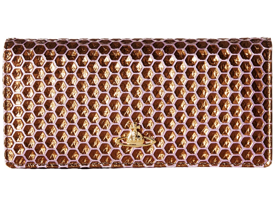 Vivienne Westwood - Braccialini Honey Comb Long Wallet with Chain (Viola) Wallet Handbags