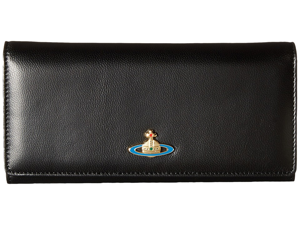 Vivienne Westwood - Braccialini Nappa Long Wallet (Black) Wallet Handbags