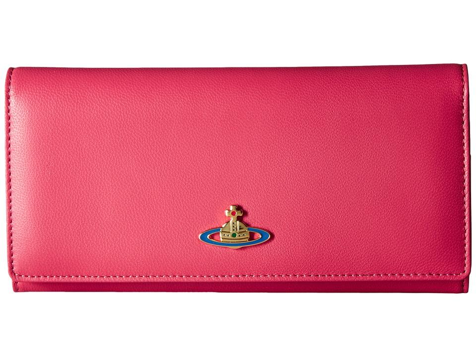 Vivienne Westwood - Braccialini Nappa Long Wallet (Begonia) Wallet Handbags