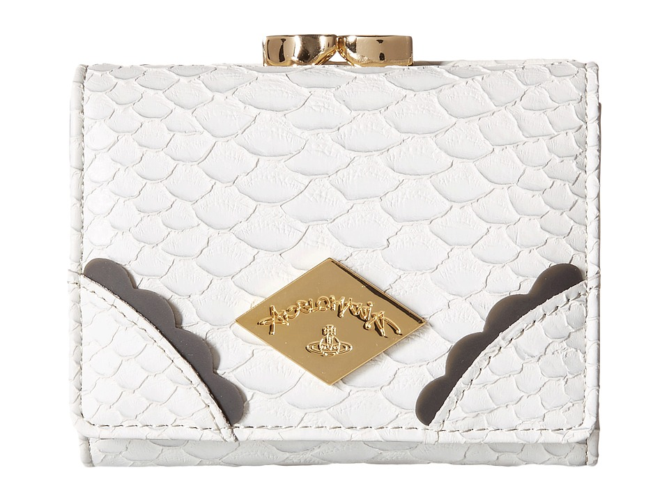 Vivienne Westwood - Braccialini Frilly Snake Wallet (Grey) Wallet Handbags