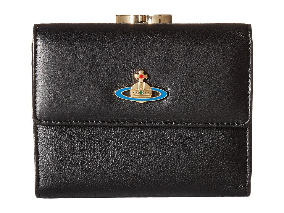 Vivienne Westwood - Braccialini Nappa Wallet (Black) Wallet Handbags