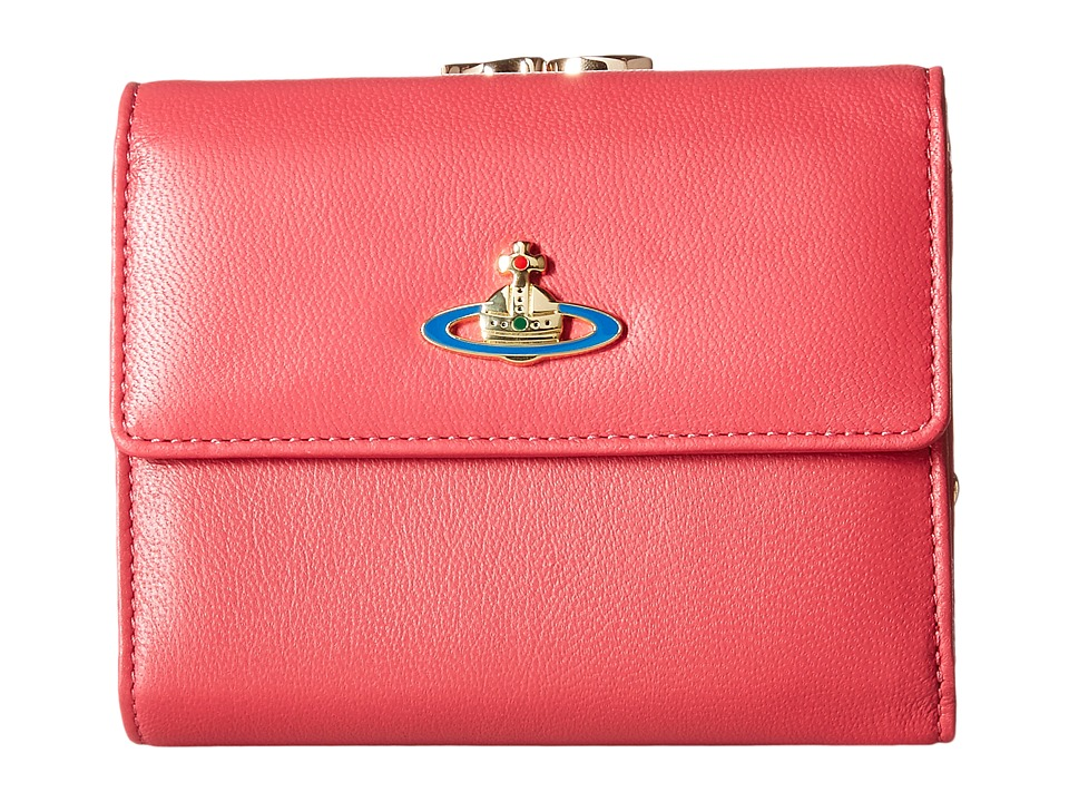Vivienne Westwood - Braccialini Nappa Wallet (Begonia) Wallet Handbags