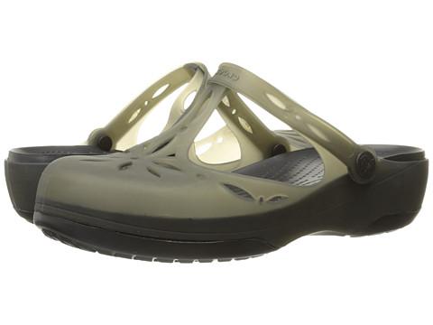Crocs Carlie Cutout Clog - Black/Black