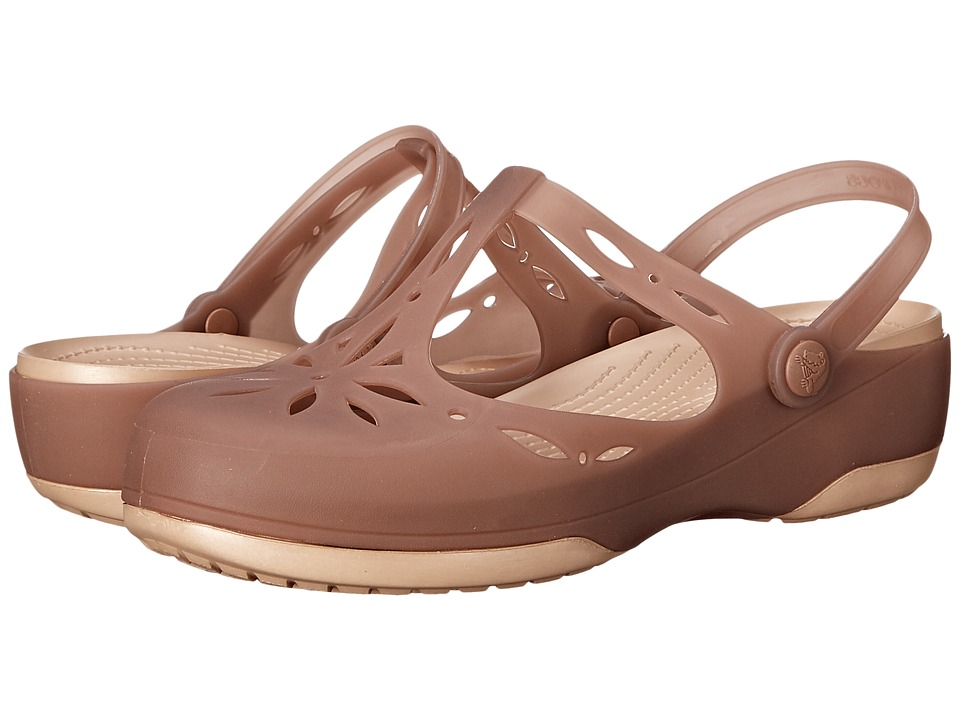 Crocs - Carlie Cutout Clog (Bronze/Gold) Women