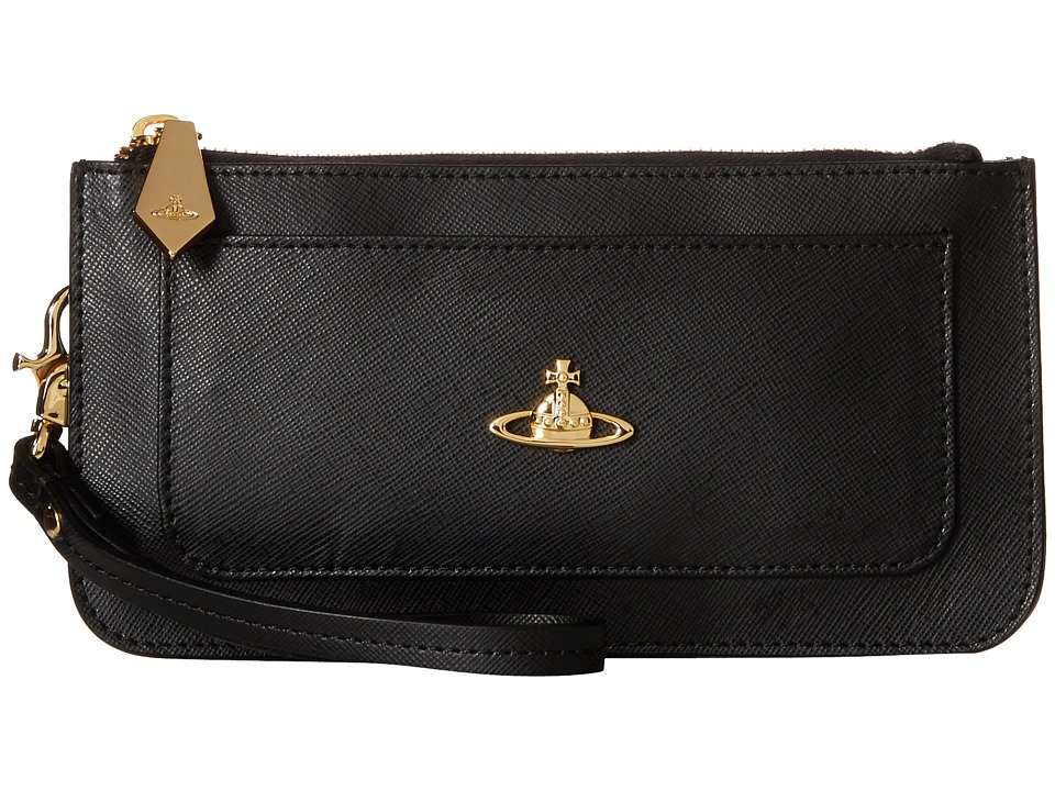 Vivienne Westwood - Braccialini Pouch Card and Coin Holder (Black) Credit card Wallet