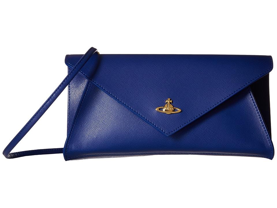 Vivienne Westwood - Braccialini Saffiano Pochette (Navy) Clutch Handbags