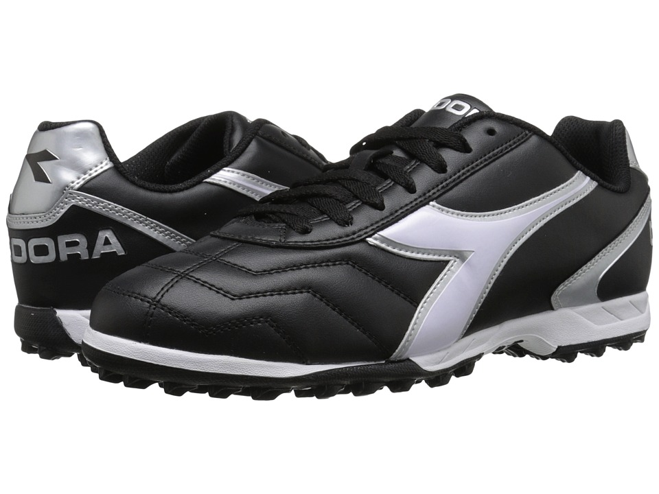Diadora Capitano TF Black/White/Silver Soccer Shoes