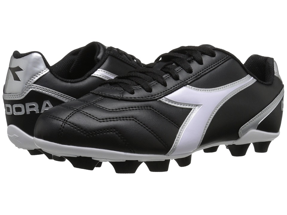 Diadora Capitano MD Black/White/Silver Soccer Shoes