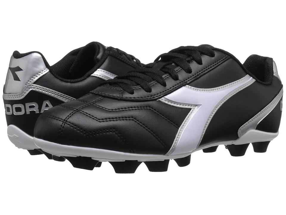 Diadora - Capitano MD (Black/White/Silver) Soccer Shoes