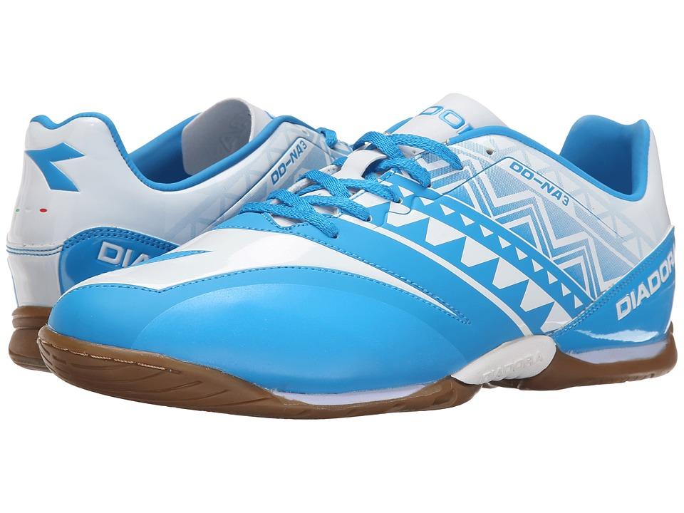 Diadora DD-NA3 R Indoor (Royal/White) Soccer Shoes