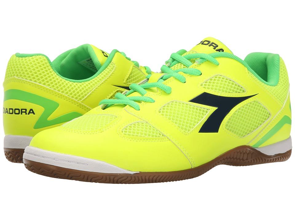 Diadora Quinto V ID Yellow Fluo/Green Fluo Soccer Shoes