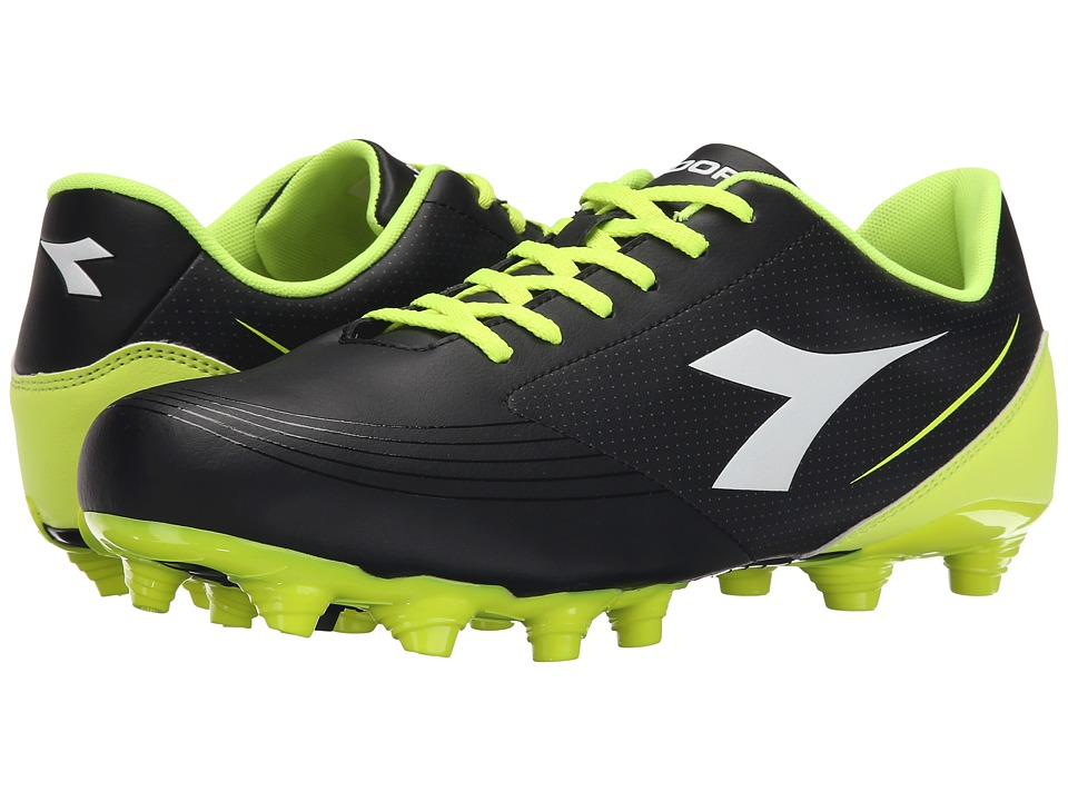 Diadora 750 IV MG 14 Black/Yellow Fluo Soccer Shoes