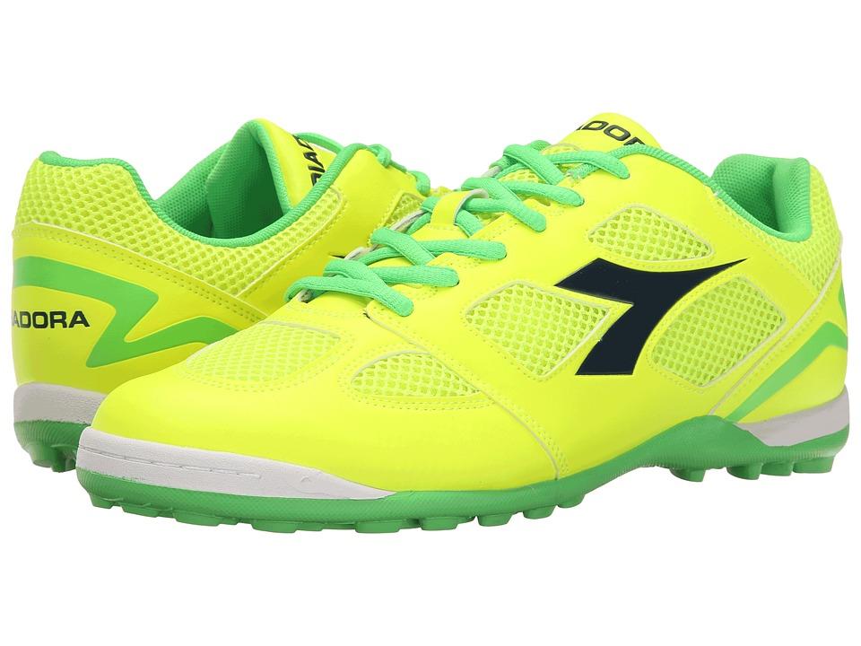 Diadora Quinto V TF Yellow Fluo/Green Fluo Soccer Shoes