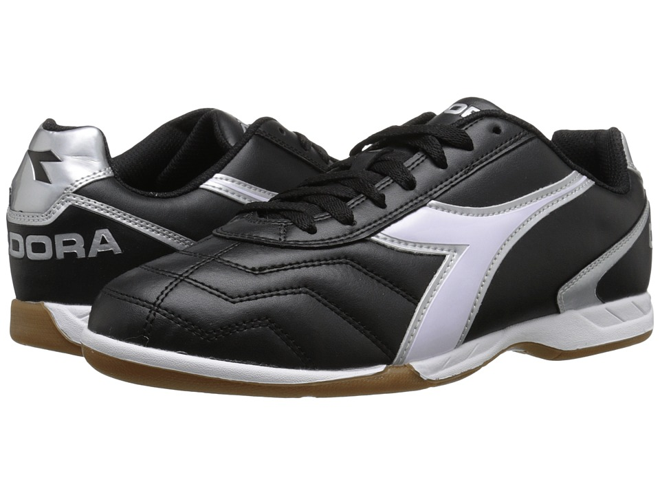 Diadora Capitano ID Black/White/Silver Soccer Shoes