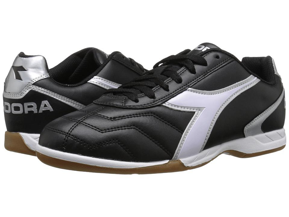 Diadora - Capitano ID (Black/White/Silver) Soccer Shoes