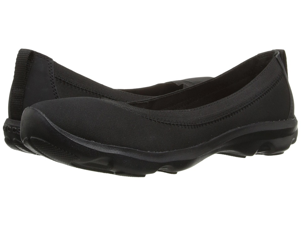 Crocs - Busy Day Stretch Flat (Black/Black) Women