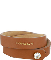 Michael Kors - Astor Leather Double Wrap CZ Bracelet