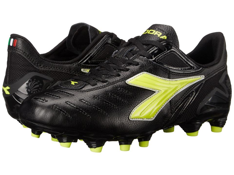 Diadora Maracana L W Black/Flou Yellow Womens Shoes