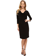 Anne Klein - 3/4 Sleeve Cowl Neck Jersey Dress