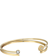 Michael Kors - Logo Disc & Pave Open Cuff Set of 2