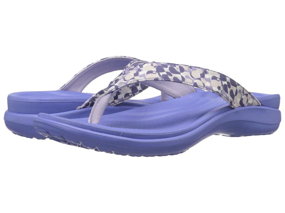 Crocs - Capri V Deco Flip (Lapis) Women