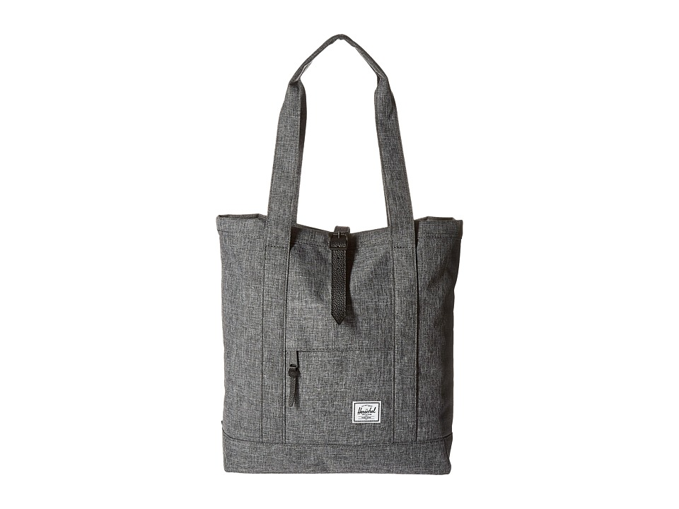 Herschel Supply Co. - Market (Raven Crosshatch/Black Leather) Tote Handbags