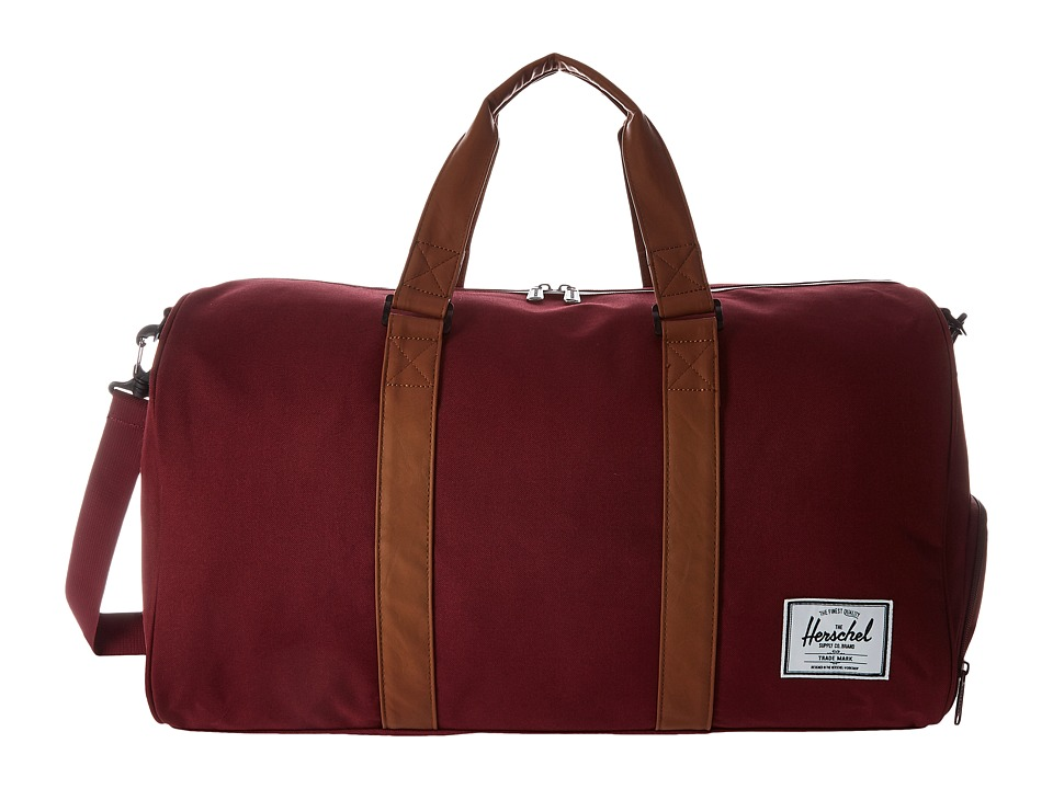 Herschel Supply Co. - Novel (Windsor Wine/Tan Synthetic Leather) Duffel Bags