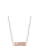 Michael Kors - Short Pave Love Plaque Pendant