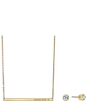 Michael Kors - Logo Bar Necklace & Stud Earrings Set