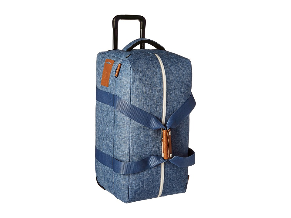 Herschel Supply Co. - Wheelie Outfitter (Limoges Crosshatch/Tan Leather) Carry on Luggage