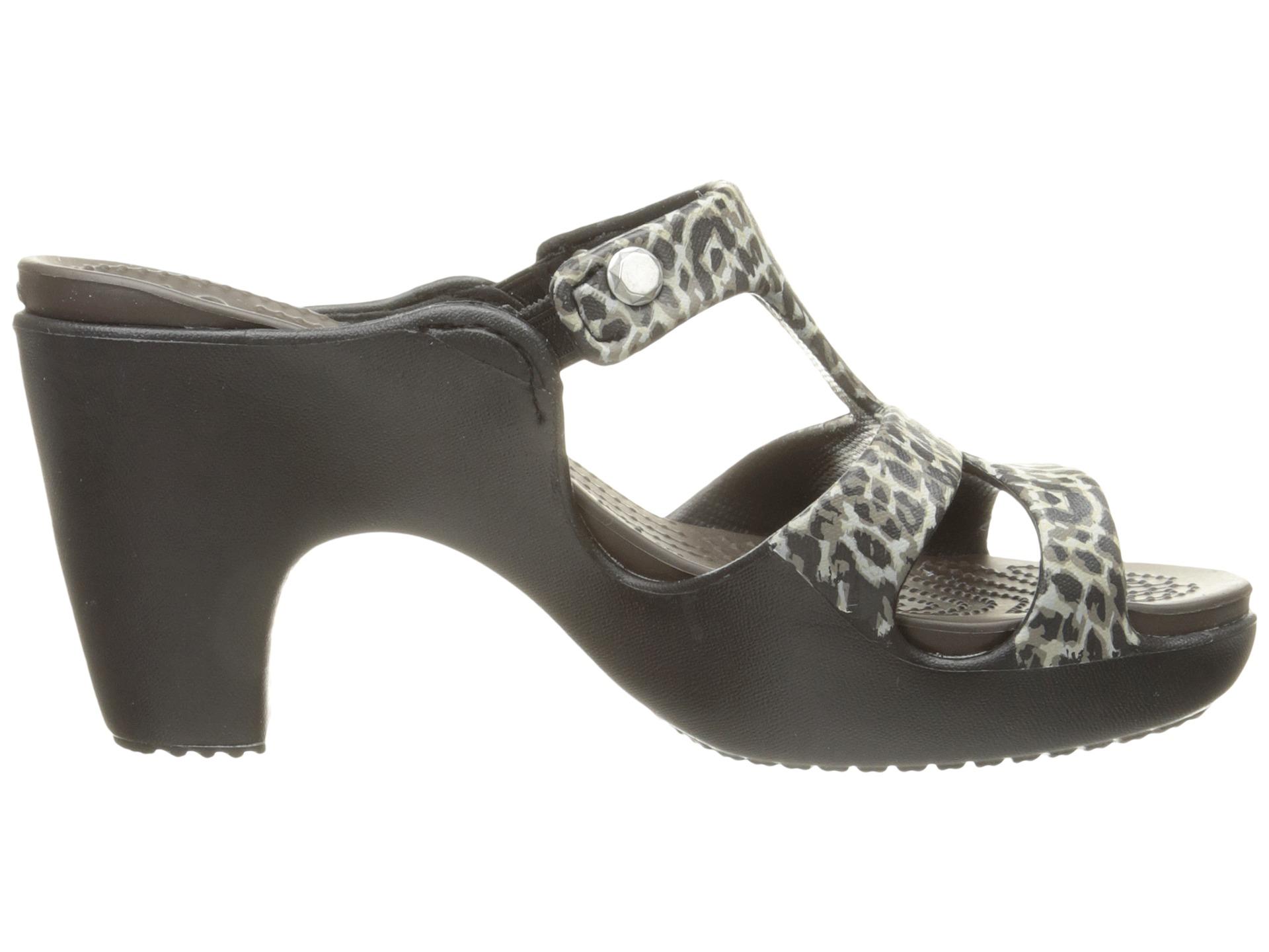 Crocs Cyprus V Leopard Print Heel Leopard - Zappos.com ...
