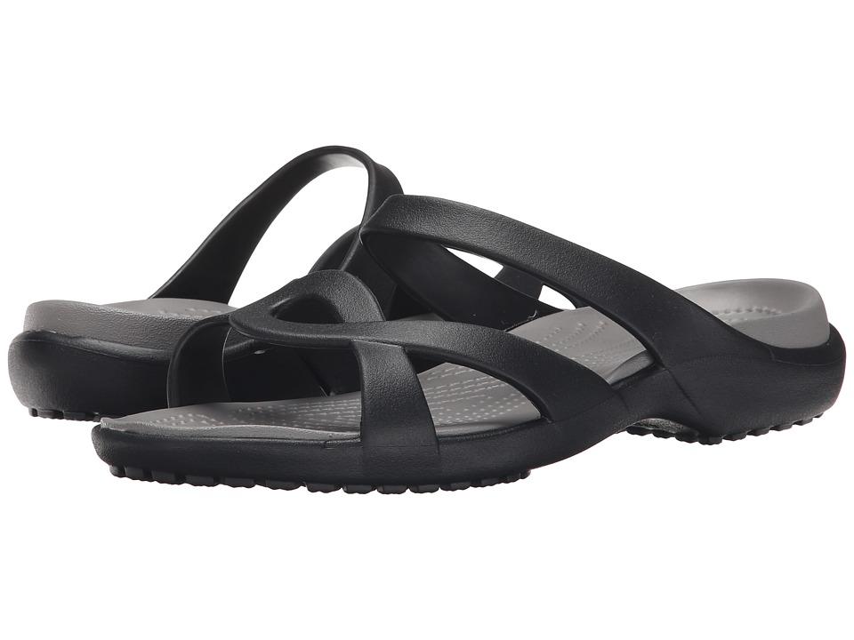 Crocs - Meleen Twist Sandal (Black/Smoke) Women's Sandals