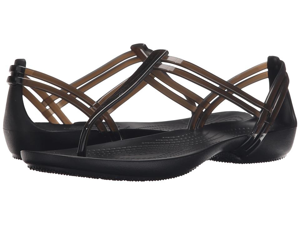 Crocs - Isabella T-Strap (Black) Women's Sandals