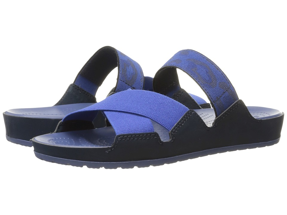 Crocs - Anna Slide (Navy/Bijou Blue) Women