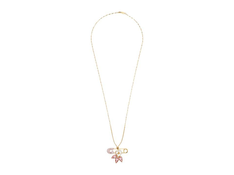 Vivienne Westwood - Glitzy Jordan Large Pendant (Vintage Rose/Mother of Pearl) Necklace
