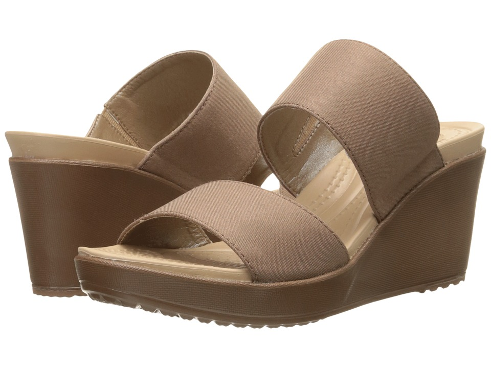 Crocs Leigh II 2 Strap Wedge Bronze/Bronze Womens Wedge Shoes