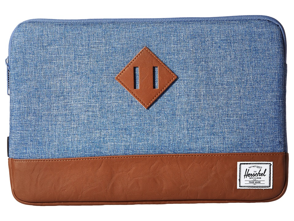 Herschel Supply Co. - Heritage Sleeve for 11inch Macbook (Limoges Crosshatch/Tan) Computer Bags