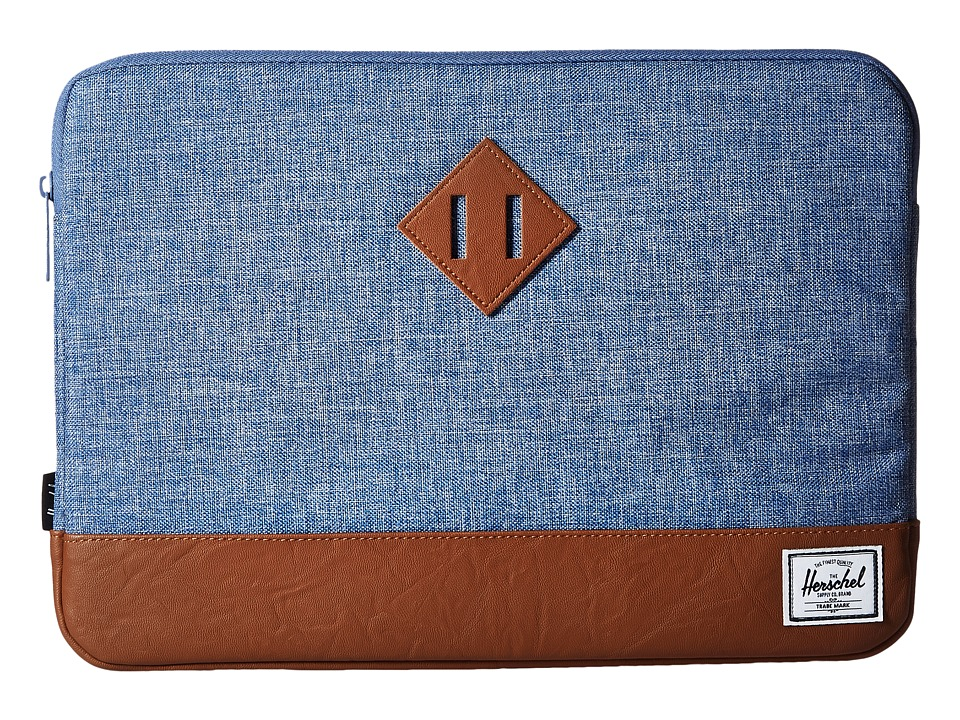 Herschel Supply Co. - Heritage Sleeve for 13inch Macbook (Limoges Crosshatch/Tan) Computer Bags