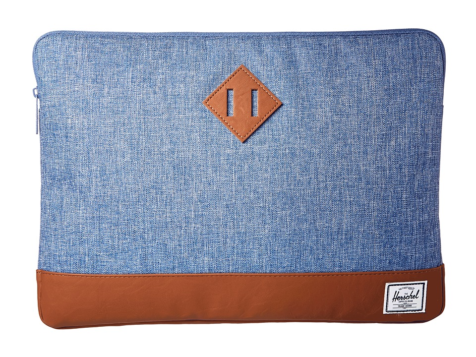 Herschel Supply Co. Heritage Sleeve for 15inch Macbook (Limoges Crosshatch/Tan) Computer Bags