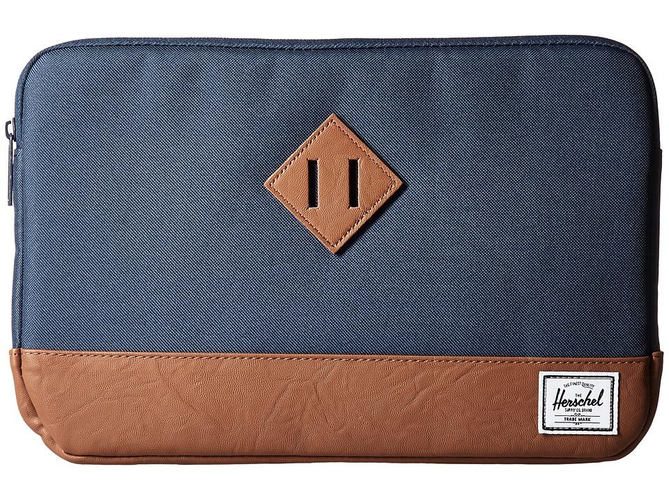 Herschel Supply Co. - Heritage Sleeve for 11inch Macbook (Navy/Tan) Computer Bags