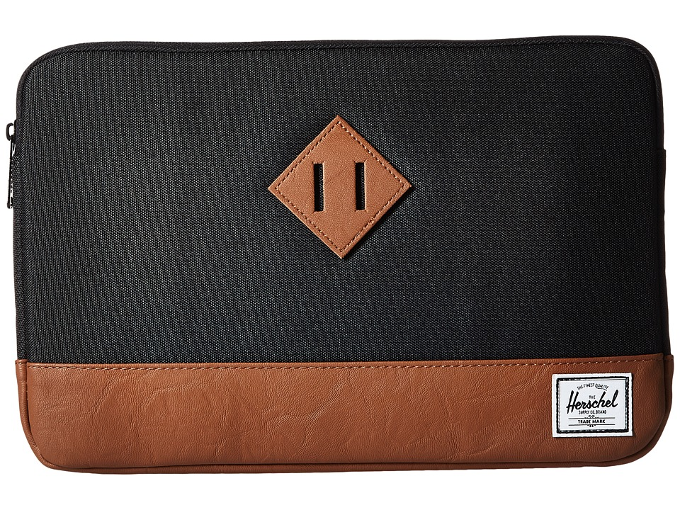 Herschel Supply Co. - Heritage Sleeve for 11inch Macbook (Black/Tan) Computer Bags