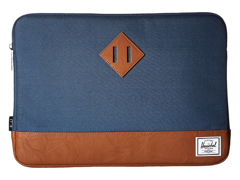 Herschel Supply Co. - Heritage Sleeve for 13inch Macbook (Navy/Tan) Computer Bags