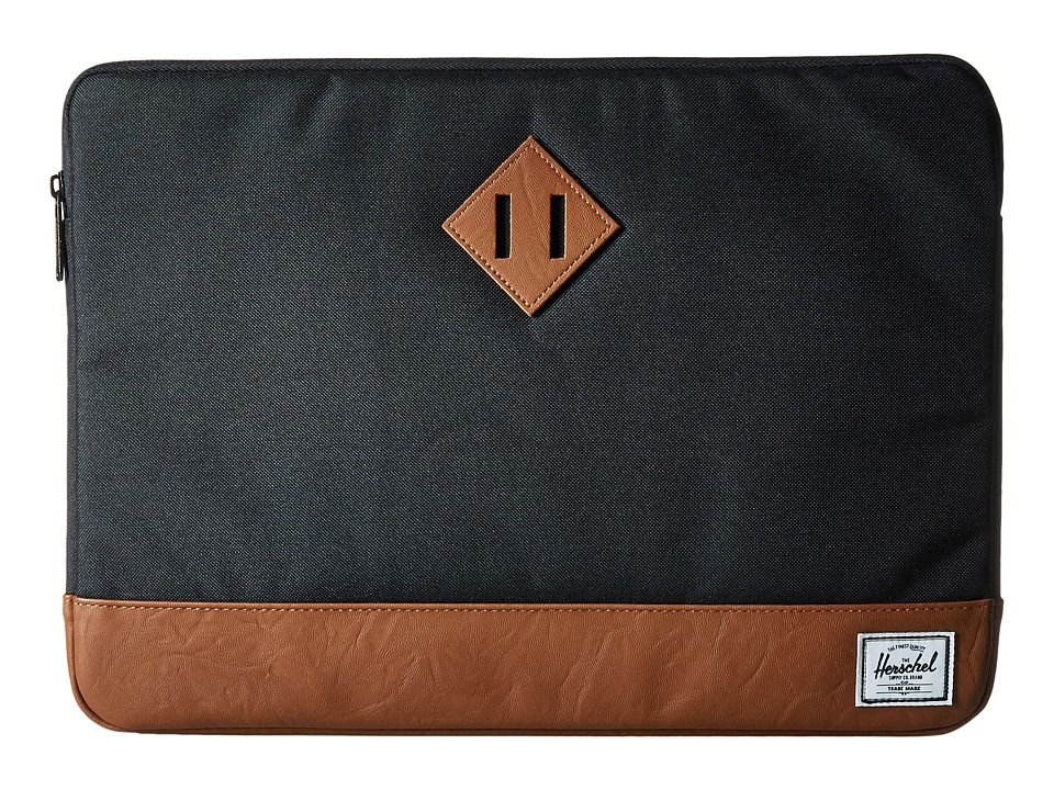 Herschel Supply Co. - Heritage Sleeve for 15inch Macbook (Black/Tan) Computer Bags