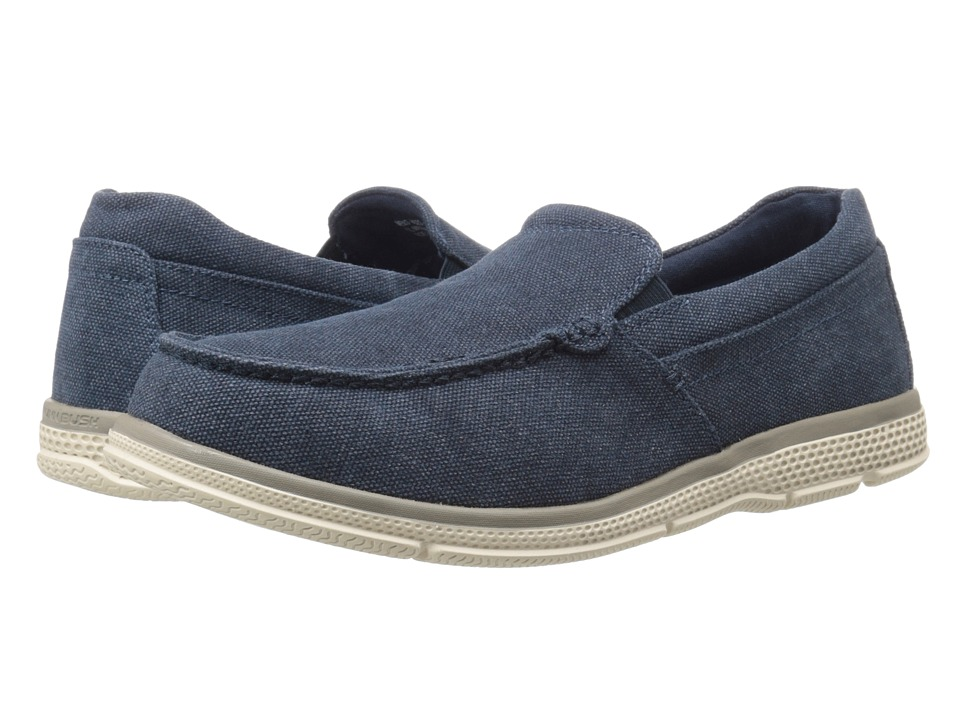 Nunn Bush Zane Twin Gore Moc Toe Slip-On (Indigo Canvas) Men